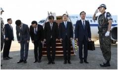 대북특사단, 평양으로 출발…김정은 면담 가능성