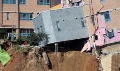 '붕괴직전' 상도유치원, 국토부 공사 중단 명령