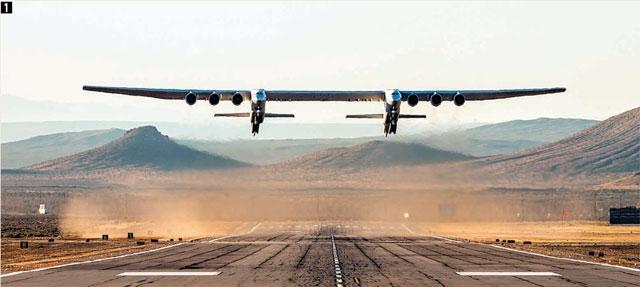세계최대 항공기 '스트라토론치' 첫 비행 성공